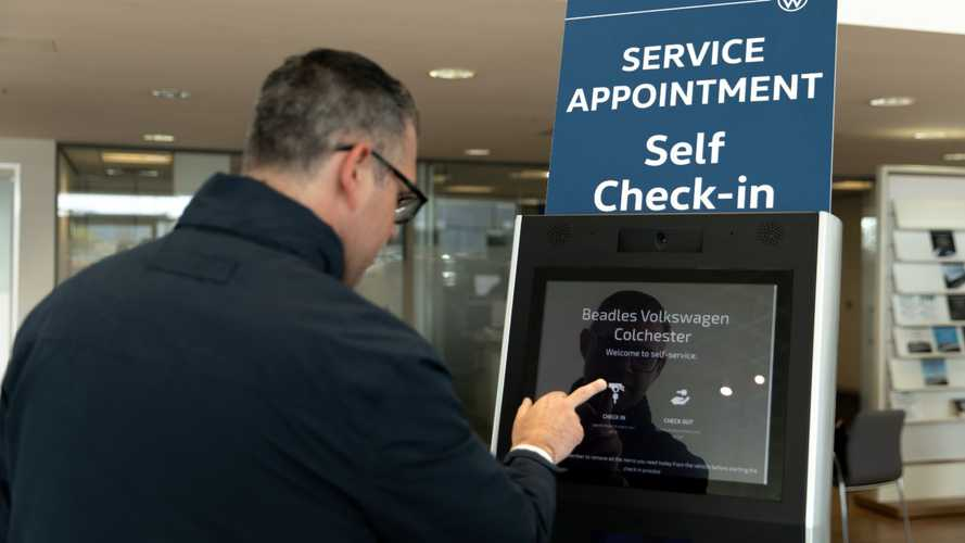 UK VW dealers get airport-style self-check-in kiosks