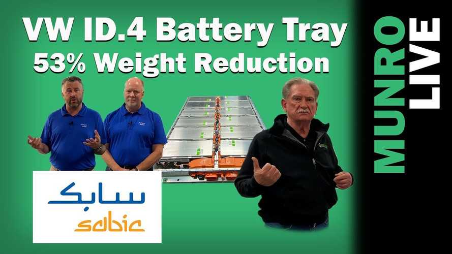 Munro Live Shows How To Cut VW ID.4 Battery Tray And Pack Weight
