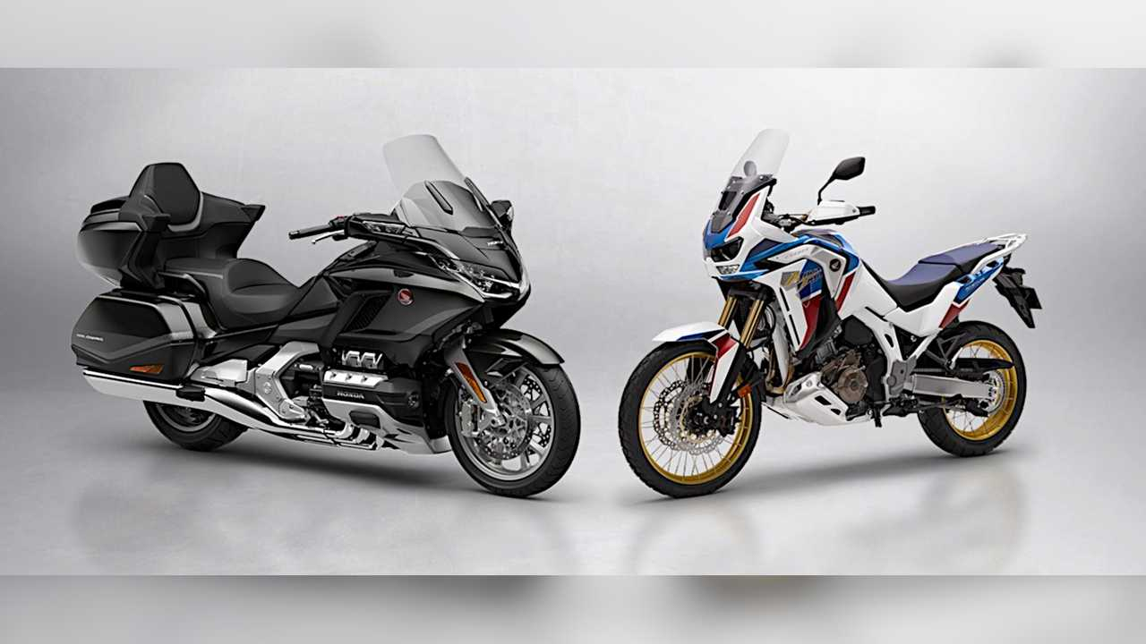 2021 Honda Gold Wing and Africa Twin