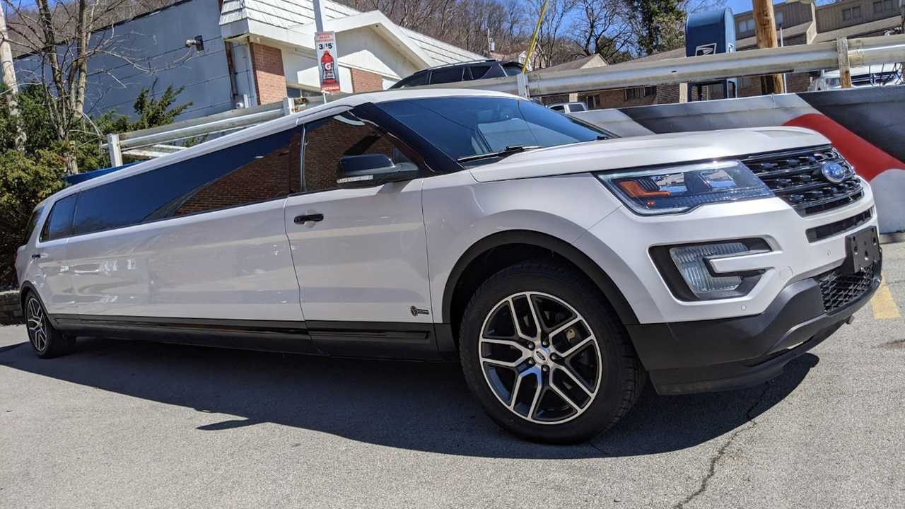 Three-row Ford Explorer Limousine is for sale.