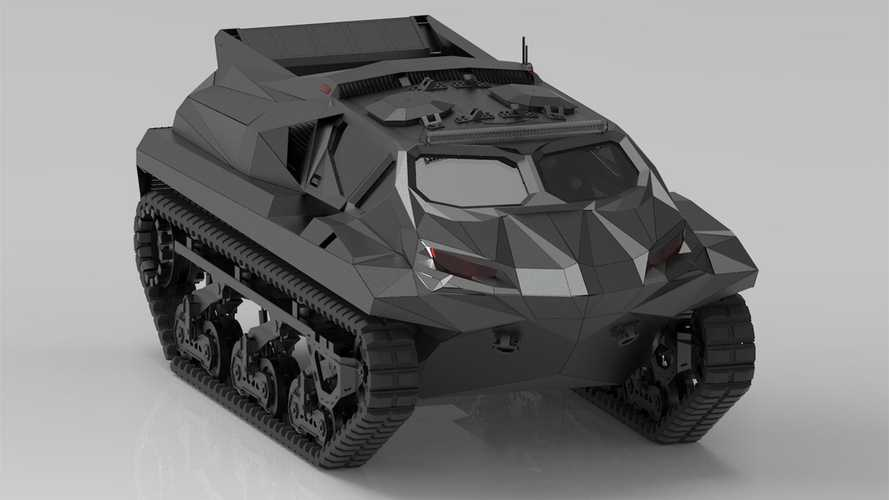 Este salvaje tanque anfibio se llama Storm y es para uso militar