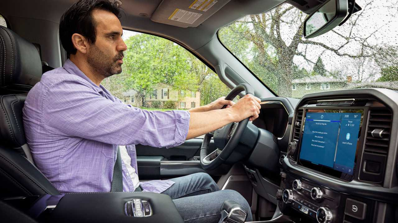 Ford Power-Up and Amazon Alexa Functionality Cabin Interior