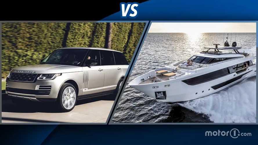 Range Rover vs Ferretti Yachts 1000: è una sfida impossibile, o no?