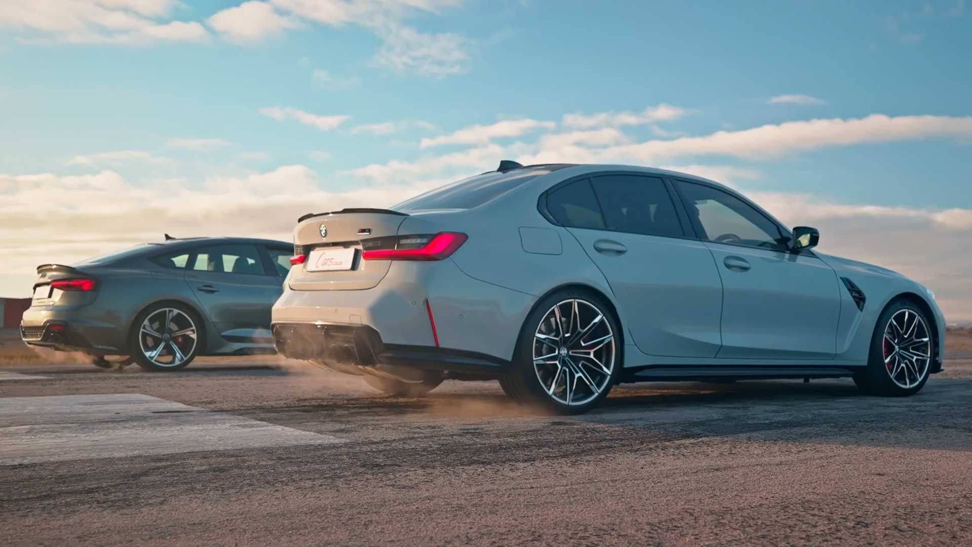 Audi RS5 Vs BMW M3 Drag Race Shows The Importance Of AWD - Motor1