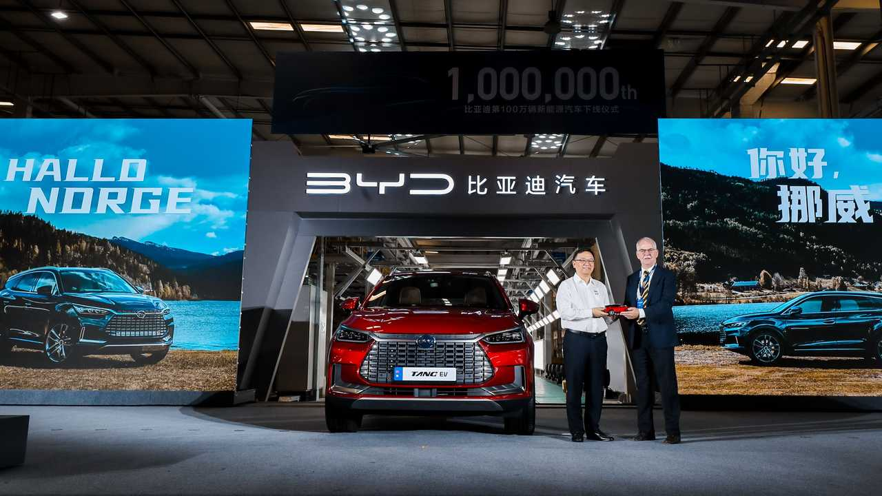 BYD's One-Millionth Plug-In Passenger Car - BYD Tang EV for Norway