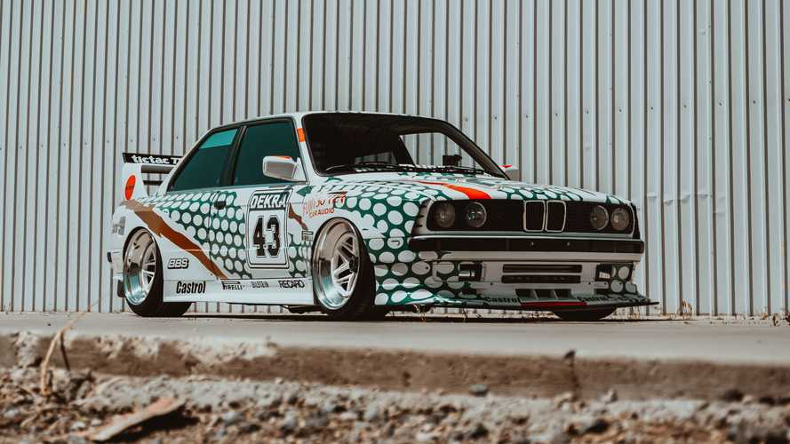 Tuned BMW M3 E30 In Tic Tac Livery