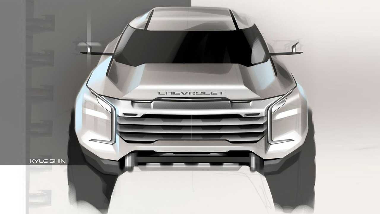 Rugged Chevy SUV design rendering.