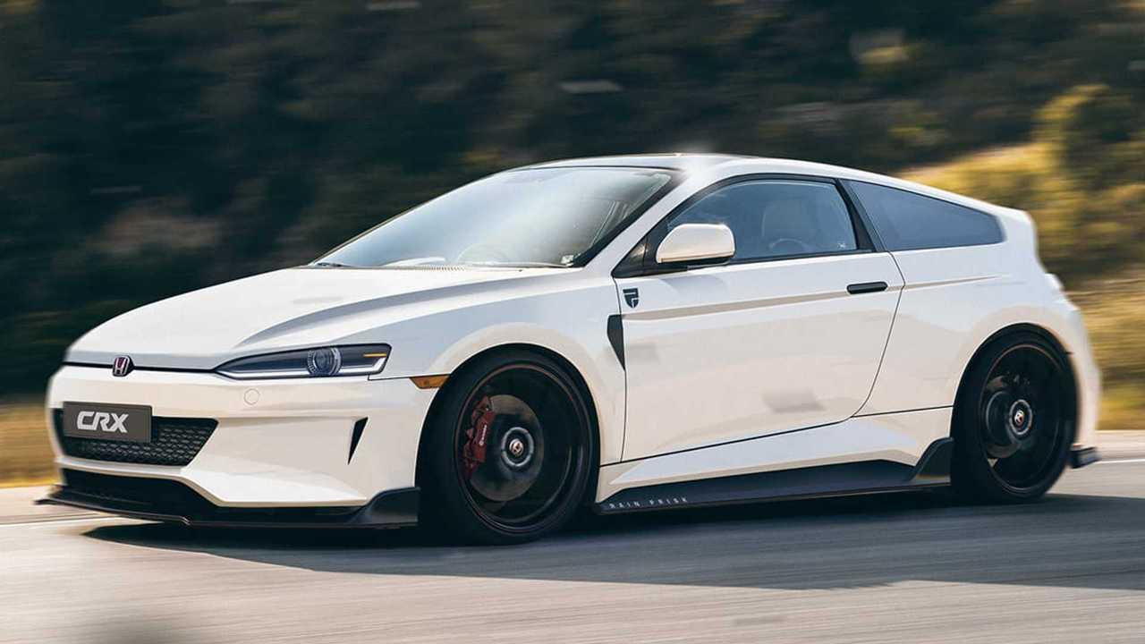 Honda CRX neu interpretiert in einem inoffiziellen Rendering