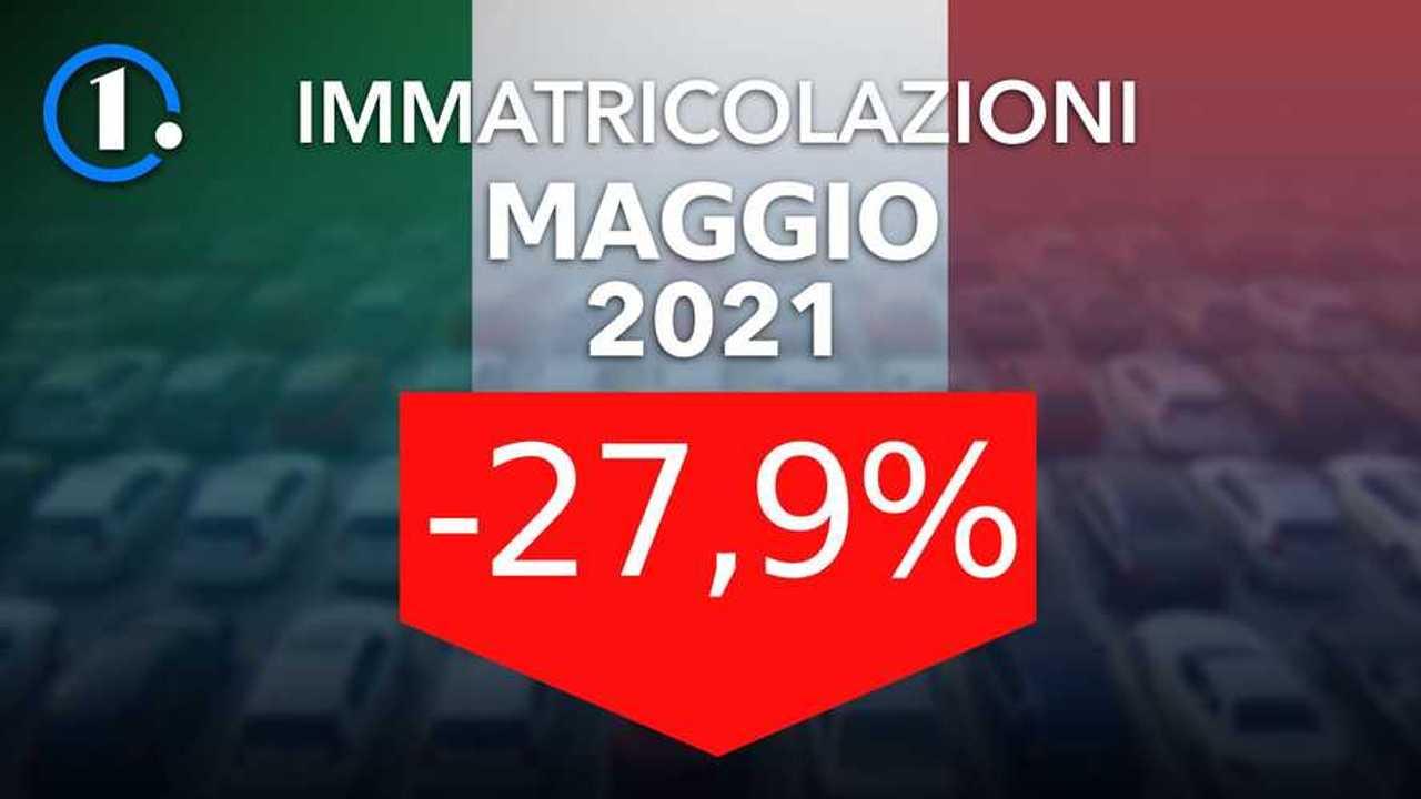 Immatricolazioni Italia Maggio 2021 (-27,9%)