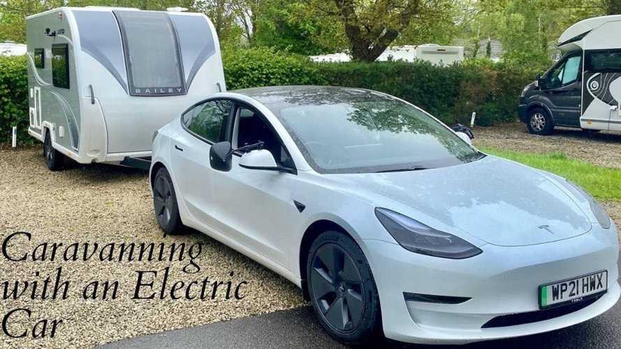 UK: Tesla Model 3 towing caravan: What you need to know, range, cost