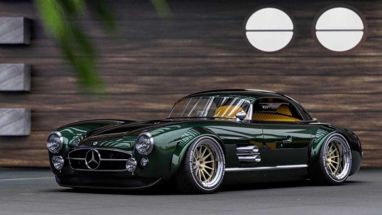 Mercedes SL300 Restomod Renderings
