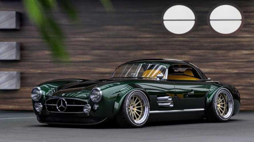 Egyelőre még csak a virtuális térben létezik ez a merész újjáépített Mercedes SL300