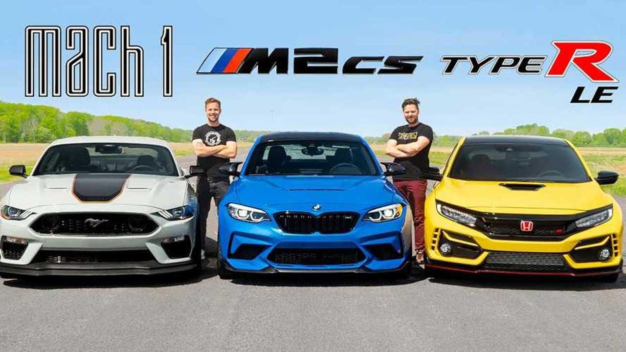 Mustang Mach 1 vs BMW M2 CS vs. Honda Civic Type R LE