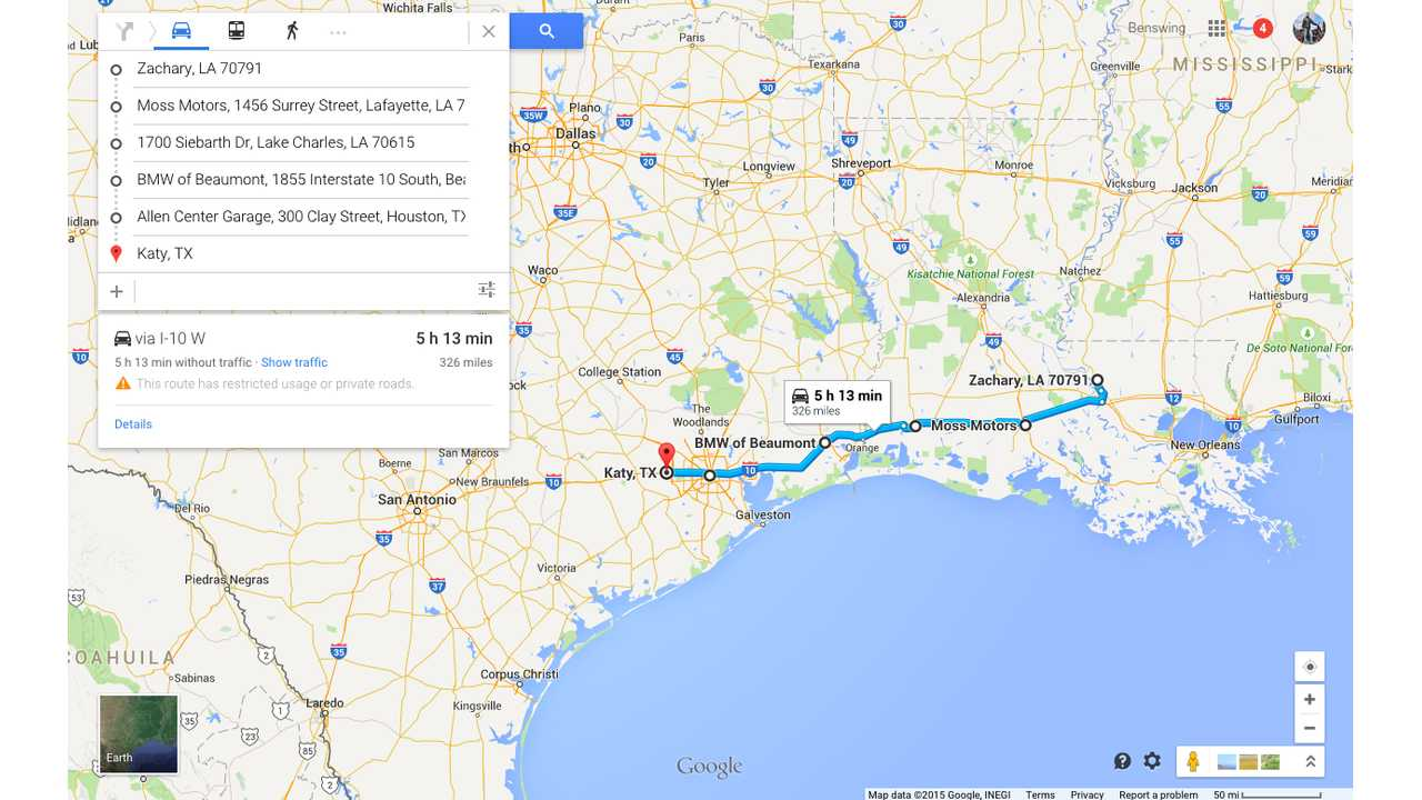 Map Of Texas Katy.Zachary To Katy Tx Map 4 Of 4 Insideevs Photos