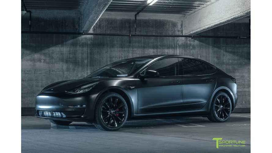 T Sportline Shows Off Tesla Model 3 Project Vader - Video