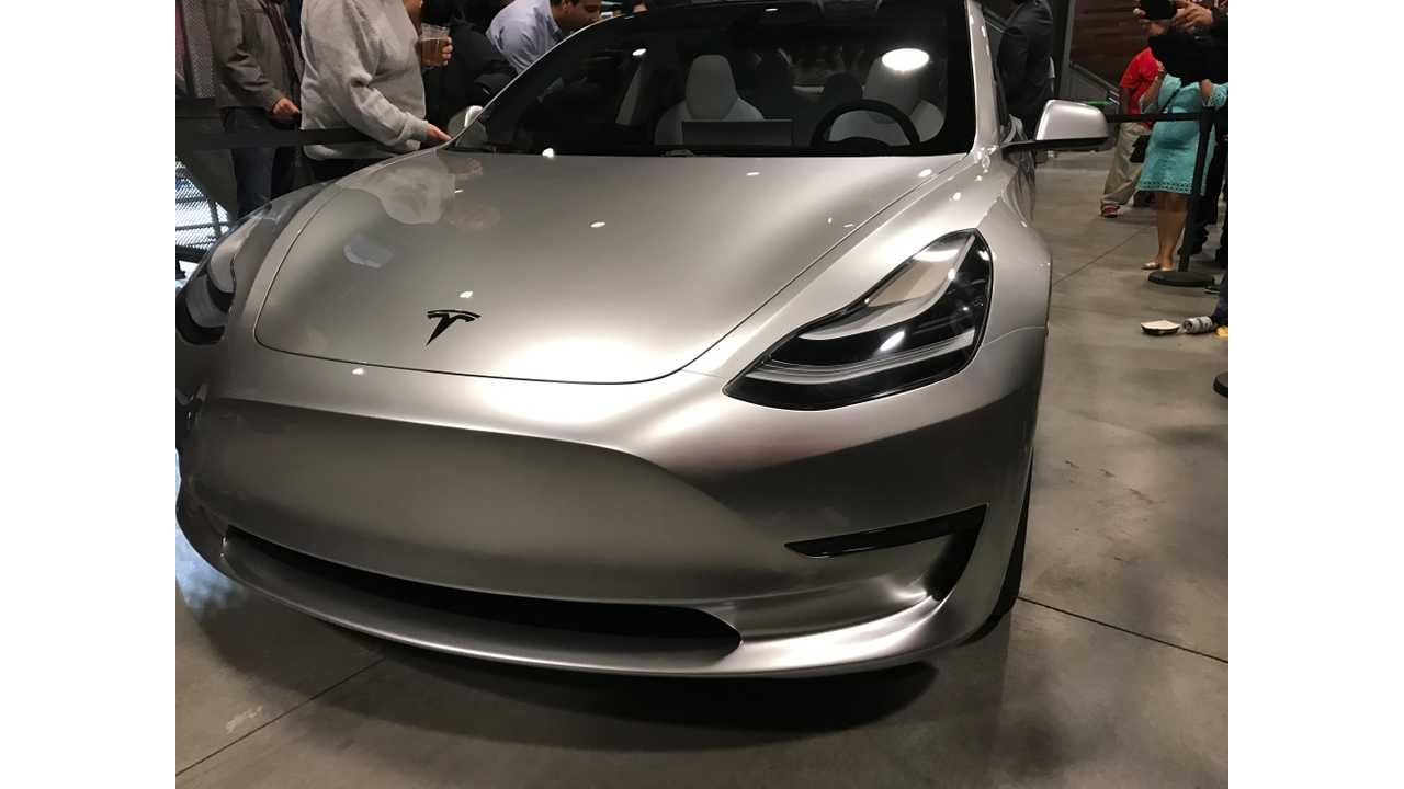 Report: Tesla To Start Pilot Production Of Model 3 On February 20