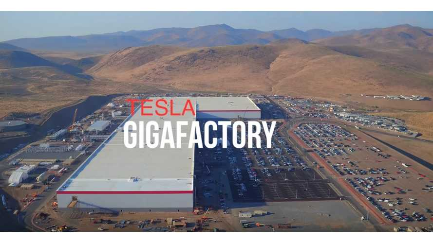 Latest Tesla Gigafactory Aerial Construction Video Update - August 2017