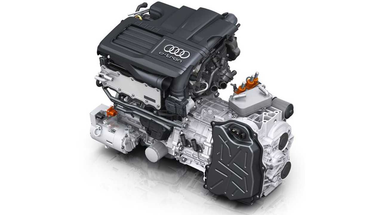 Audi A3 Sportback E Tron Engine And Disc Shaped Electric Motor Integrated