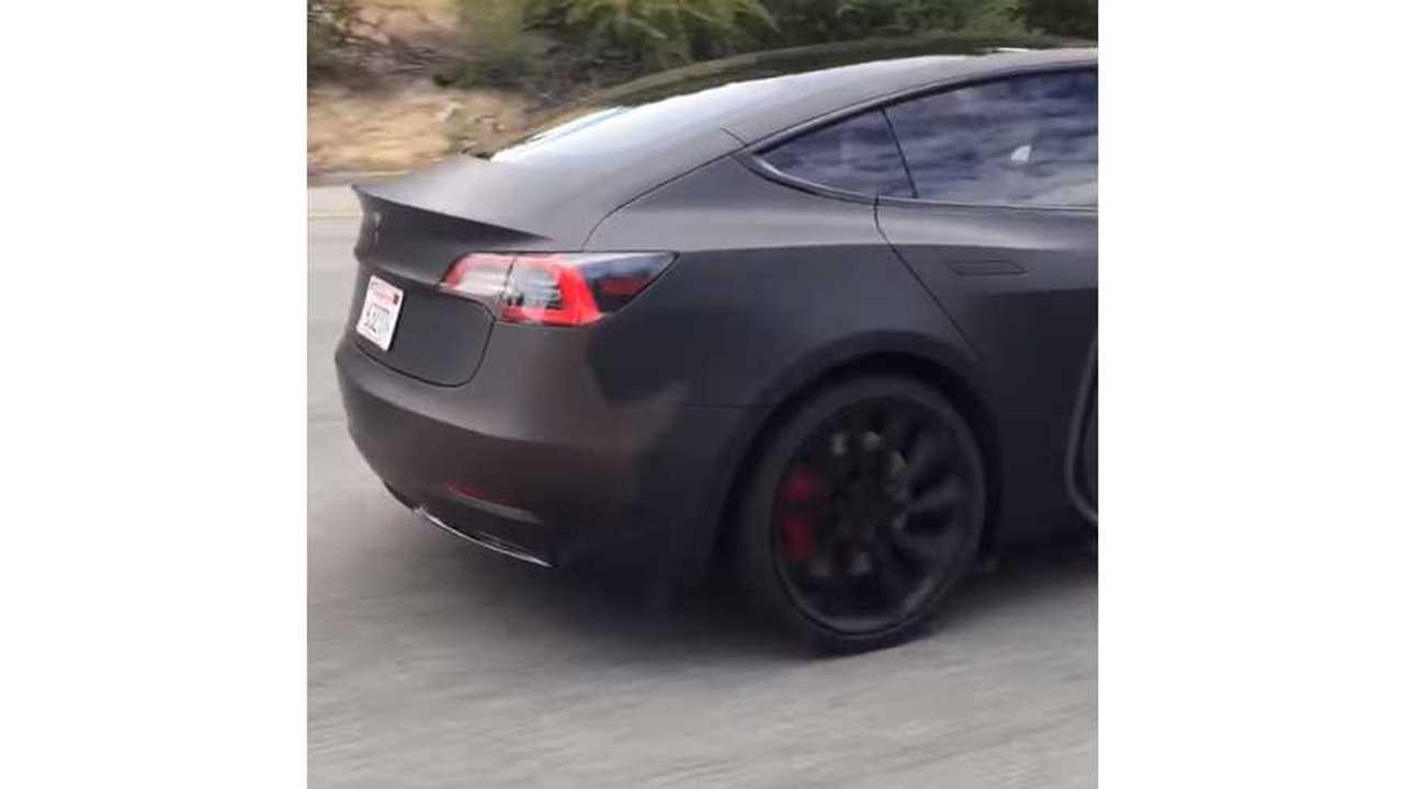 Model 3 Spotted Testing Near Tesla HQ - Video