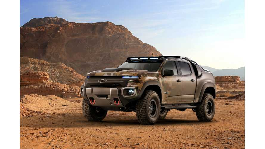 Mission-Ready Chevrolet Colorado ZH2 Fuel Cell Unveiled at U.S. Army Show - Videos