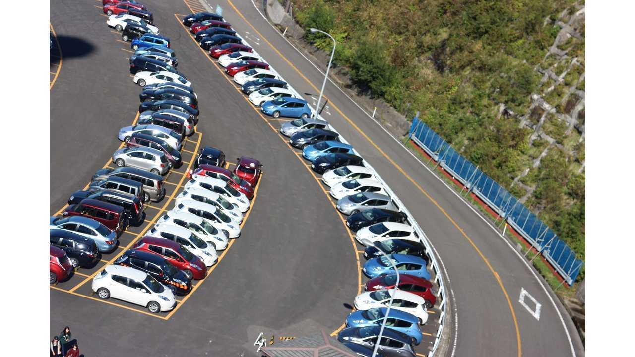 Nissan LEAFs in Japan