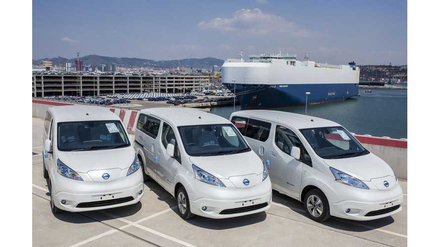 Nissan Begins Deliveries Of 40 kWh e-NV200 With 4,600 Orders To Fill