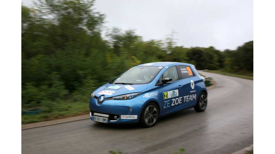 New 41 kWh Renault ZOE Best Among EVs At e-Rallye Monte-Carlo, But Toyota Mirai Takes 1st Overall