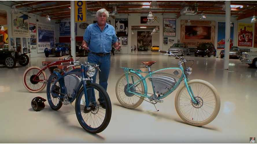Vintage Electric Bicycles On Jay Leno's Garage - Video