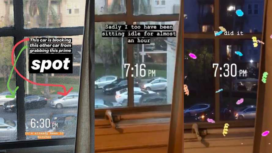 Epic parking spot standoff lasts almost two hours