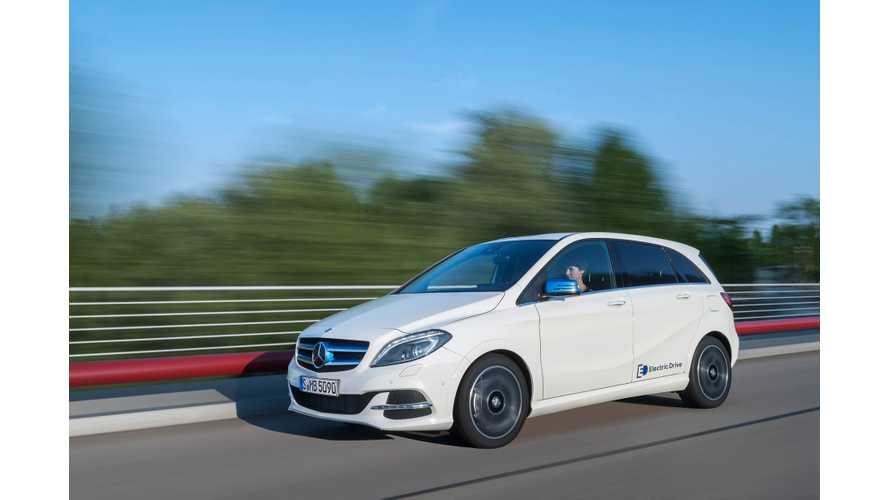 Mercedes-Benz B-Class Electric Drive Reduces Emissions By 64% Compared To Gas B 180