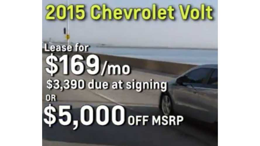 2015 Chevrolet Volt Lease Deal - Update: Now $149 Per Month