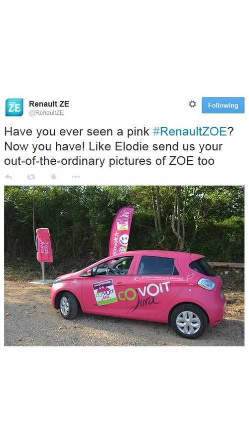 Renault ZOE Pretty In Pink?