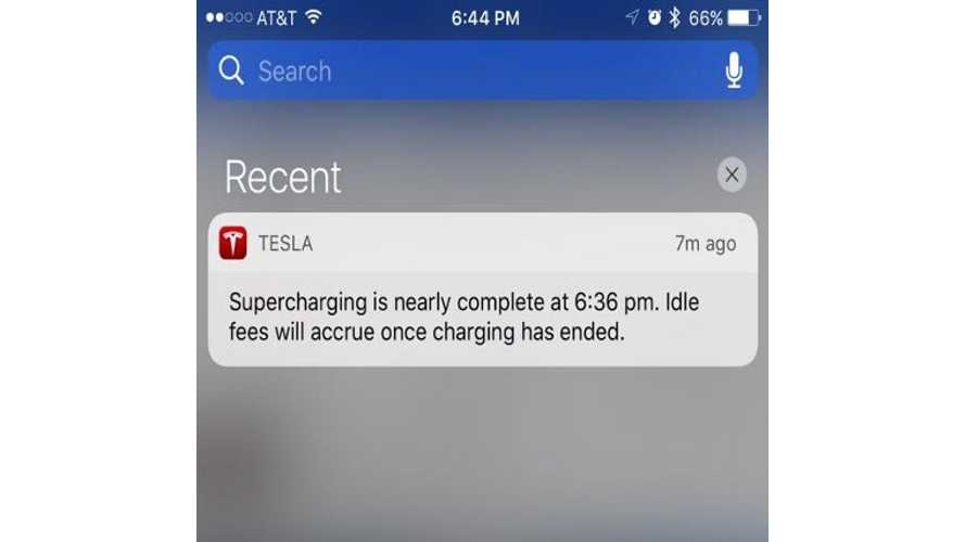 Here's The Alert You'll Receive If You're Plugged Into A Tesla Supercharger After Charging Is Complete