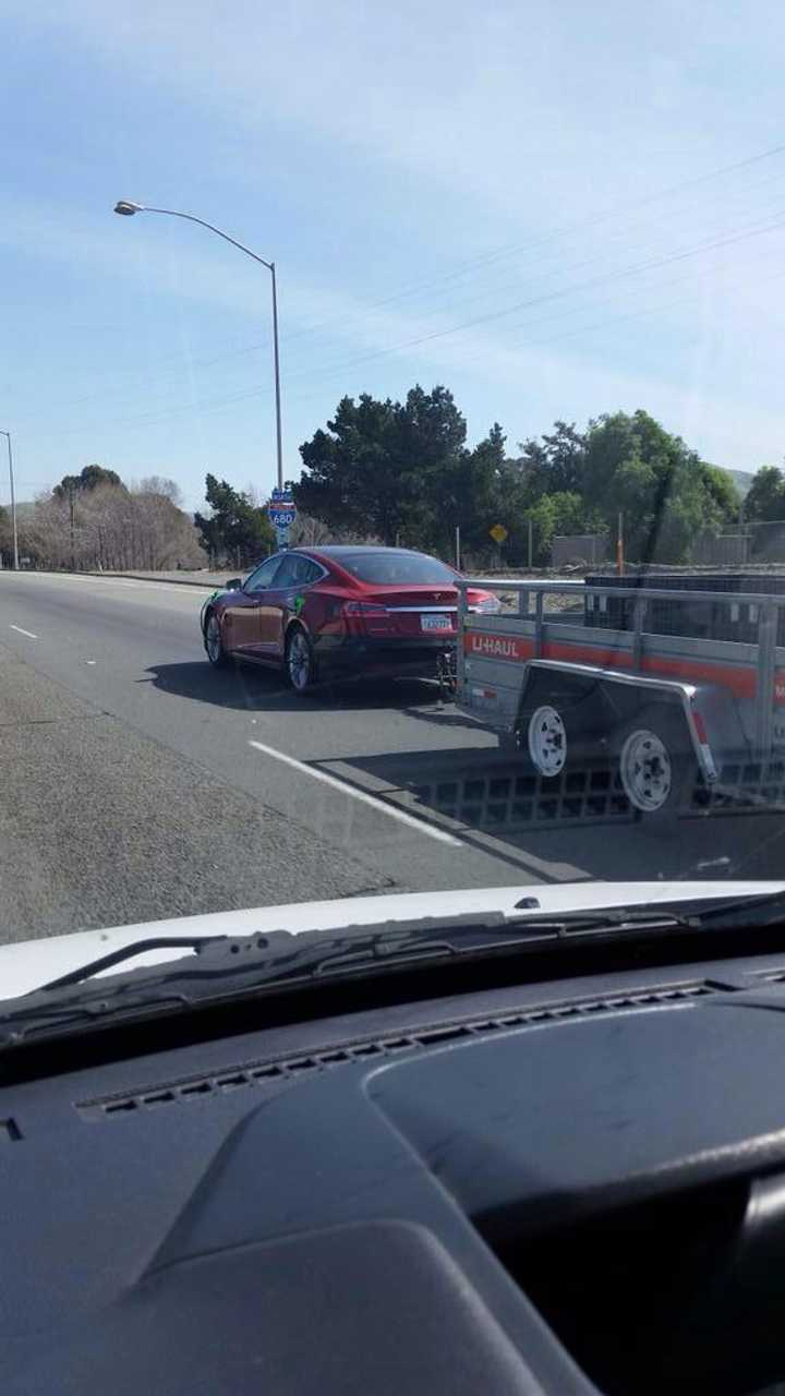 Tesla Tests Towing With Model S
