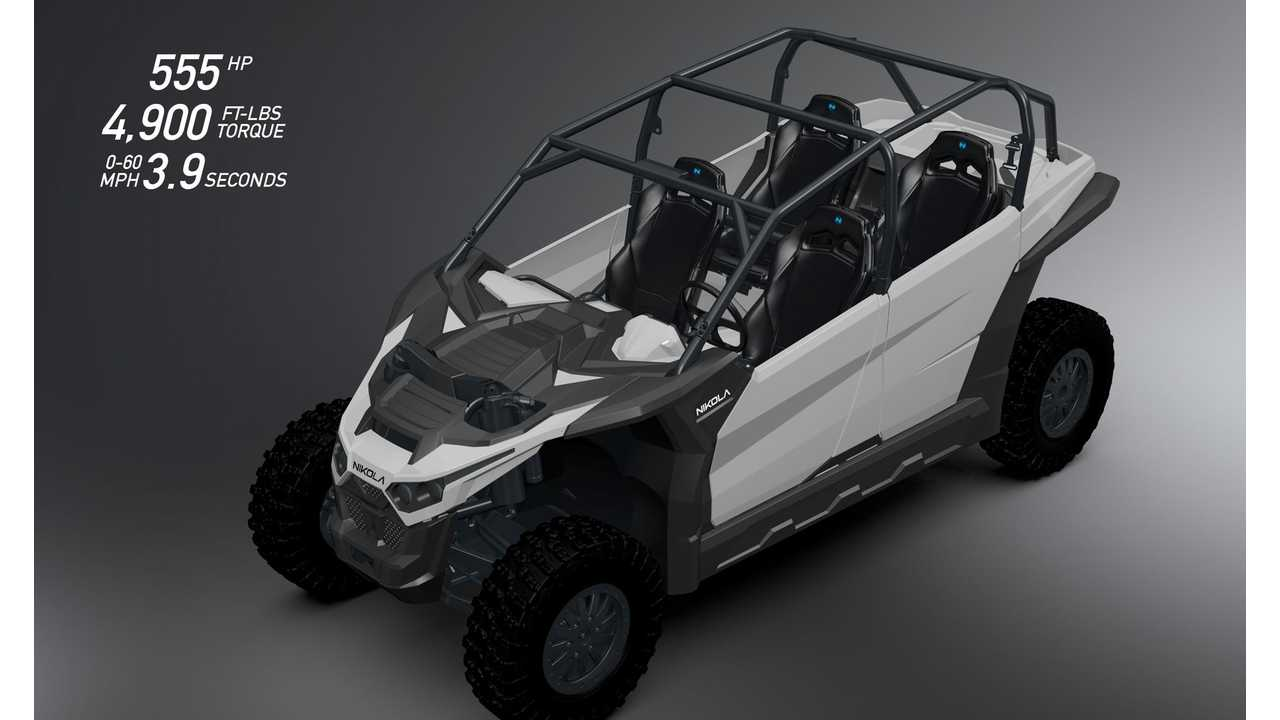 Nikola Preps World's Most Powerful Electric UTV: 120 kWh, 60 MPH in 3.9 Seconds