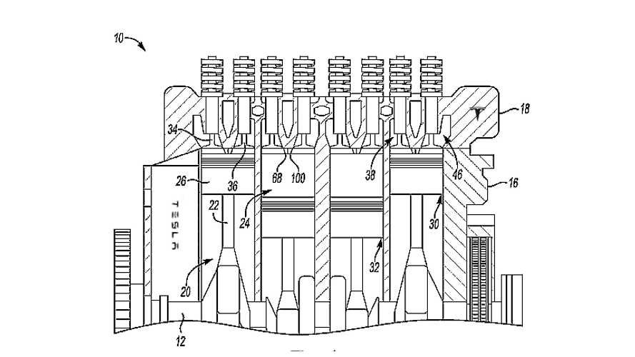 Tesla Files New Patent For Gas Engine With 'Plasma Igniter'