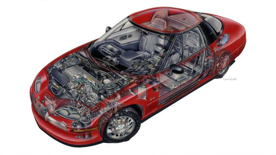 EV1 Cut Out Sketch Shows The Car As A Work Of Art