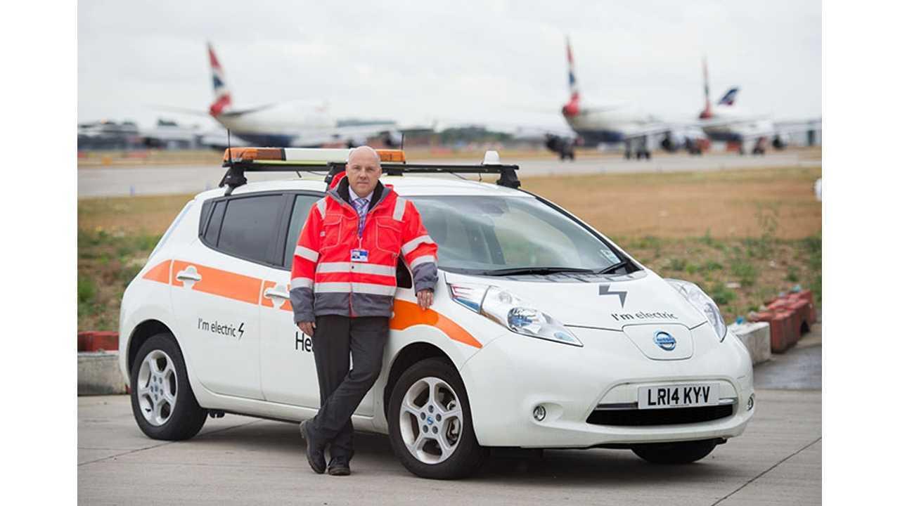 Nissan LEAF makes a flying start on Heathrow fleet