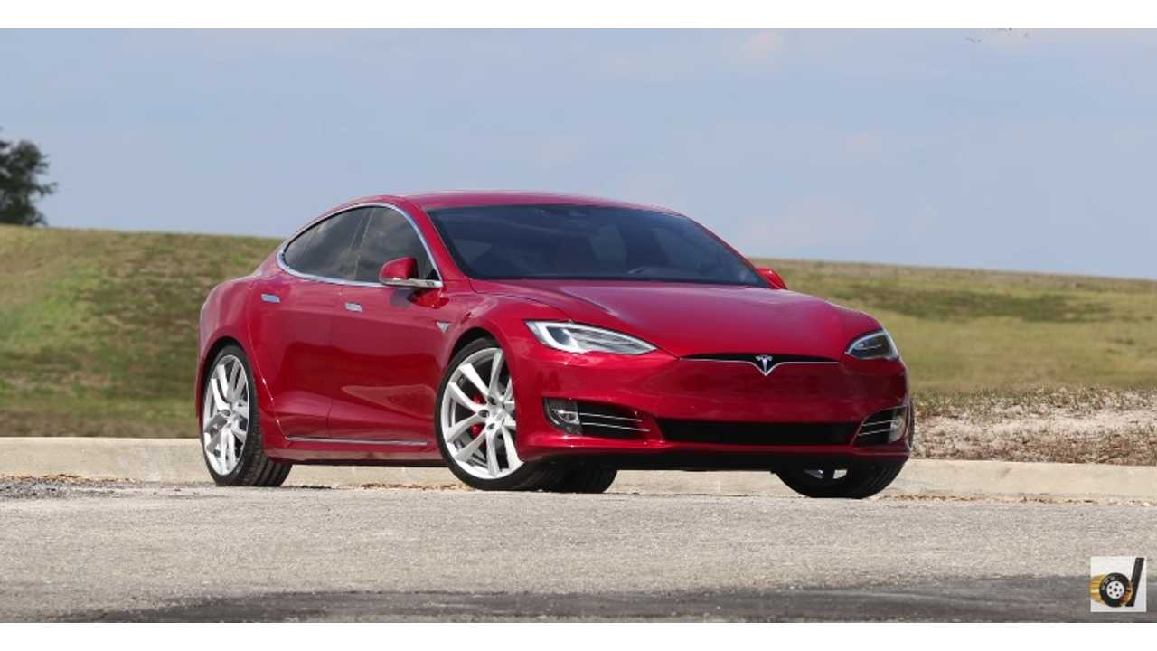 Tesla Model S P100DL with Tesla Forged Lightweight Arachnid Wheels - DragTimes