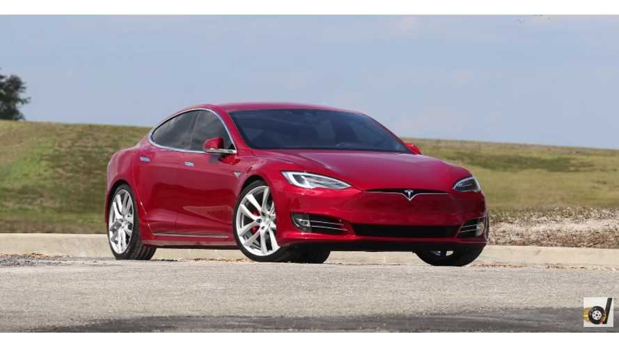 DragTimes Tests New Lightweight OEM Wheels On Tesla Model S P100DL - Video