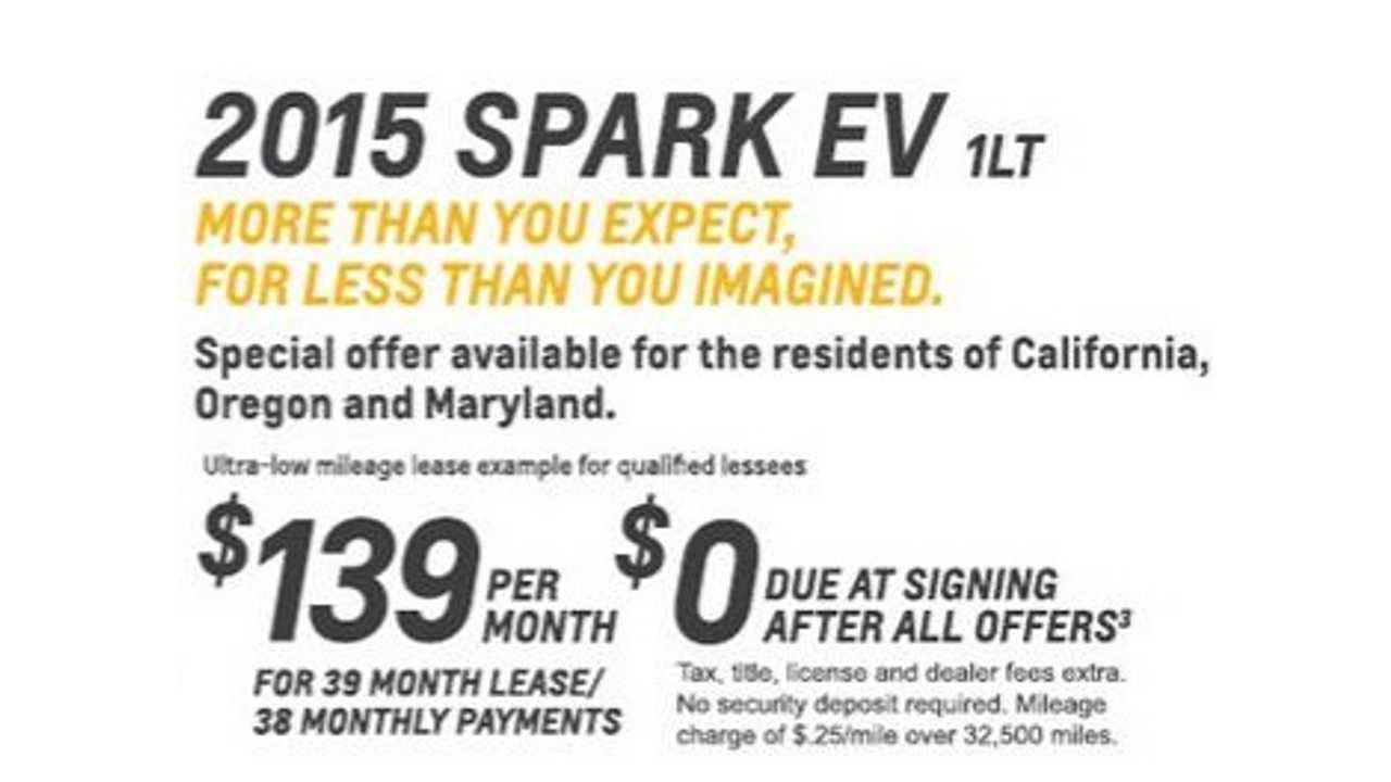 Chevrolet Spark EV Lease Deal Leads To Buying Frenzy, New Volt Lease Deal Too
