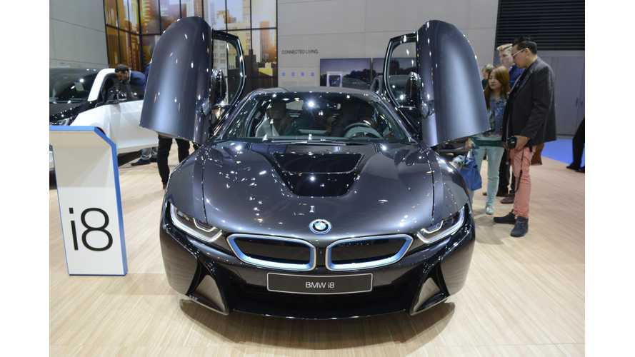 BMW i3 & i8 At The 2015 Frankfurt Motor Show - Photos & Videos