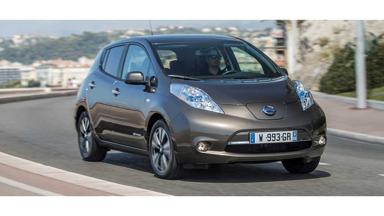 The New 2016 Nissan LEAF Takes A Spin In Europe (in Gun Metallic Color)
