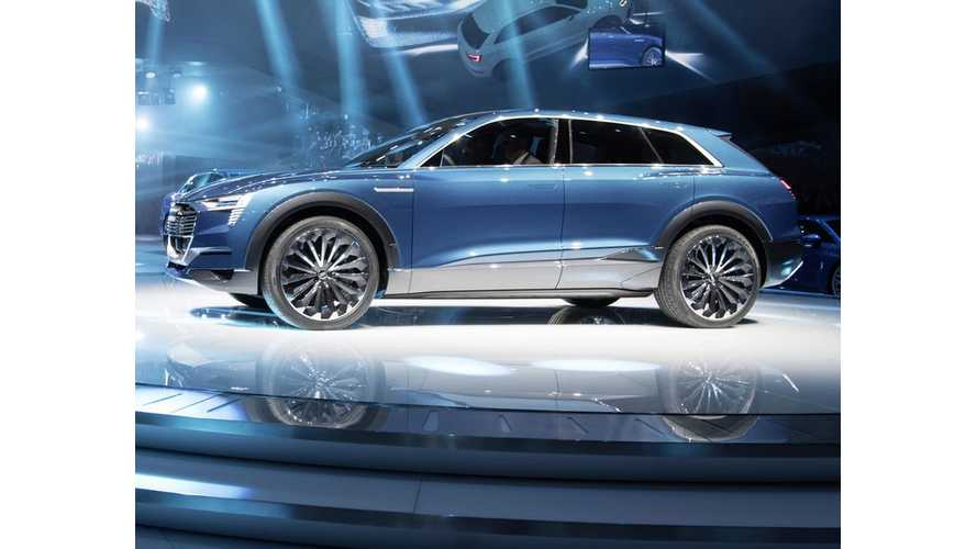 310 Mile Audi e-tron Quattro Concept Revealed, Production in 2018 (w/videos)