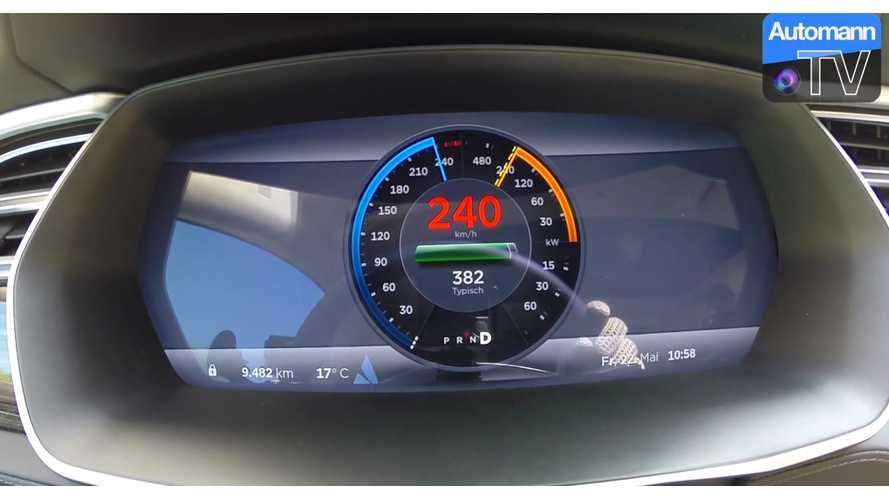 Tesla Model S P85D Accelerates From 0 To 149 MPH - Video