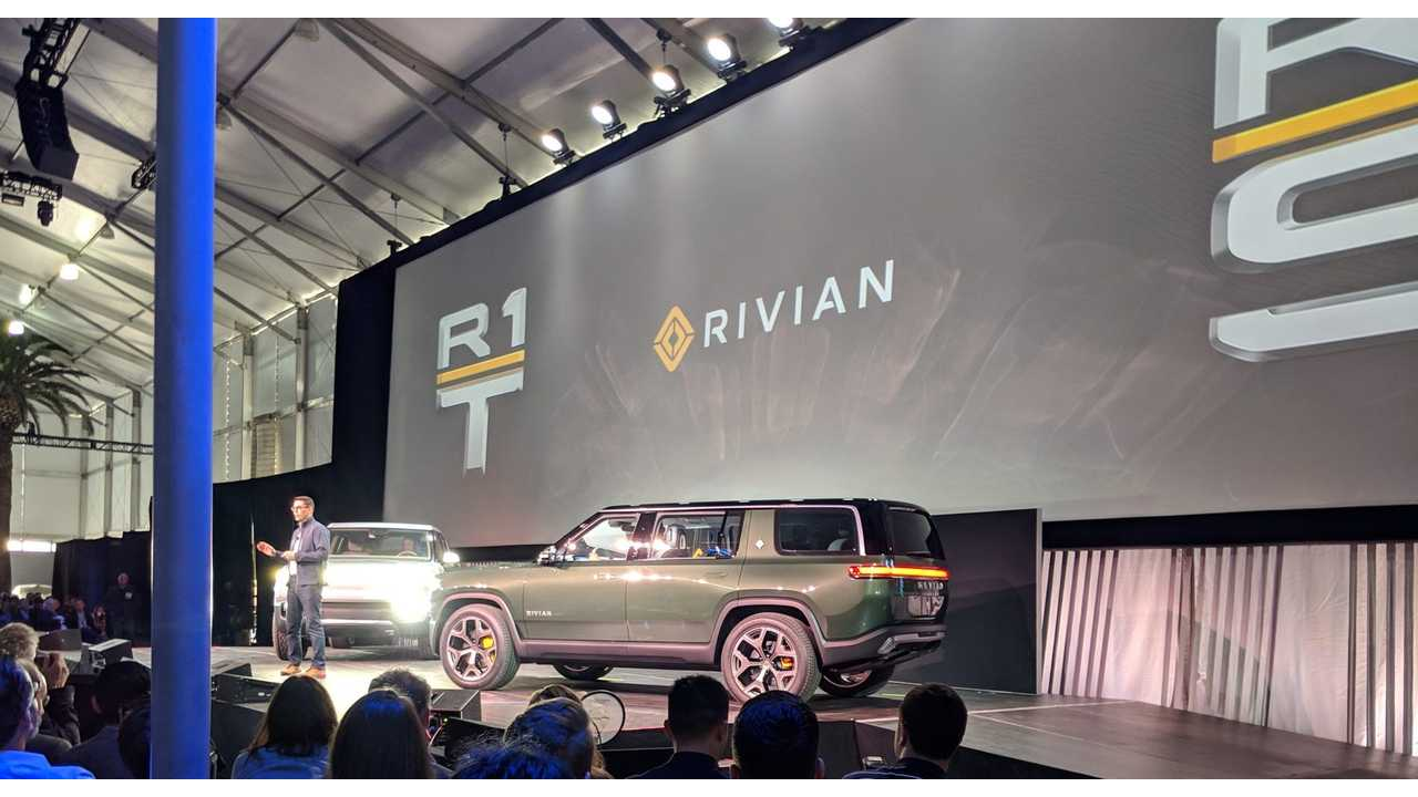 Rivian Debuts R1S Electric SUV: Seats 7, Packs 180-kWh Battery