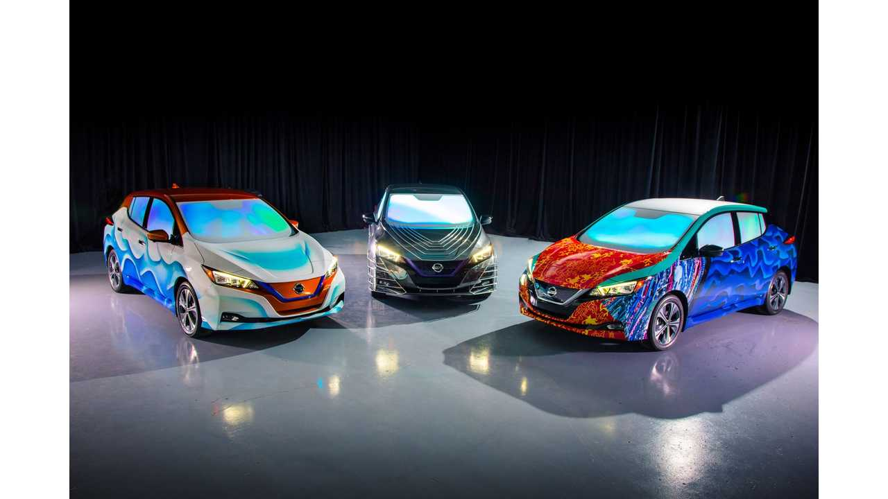 Customized Nissan LEAF show vehicles inspired by Disney's 'A Wrinkle in Time' revealed at film's world premiere
