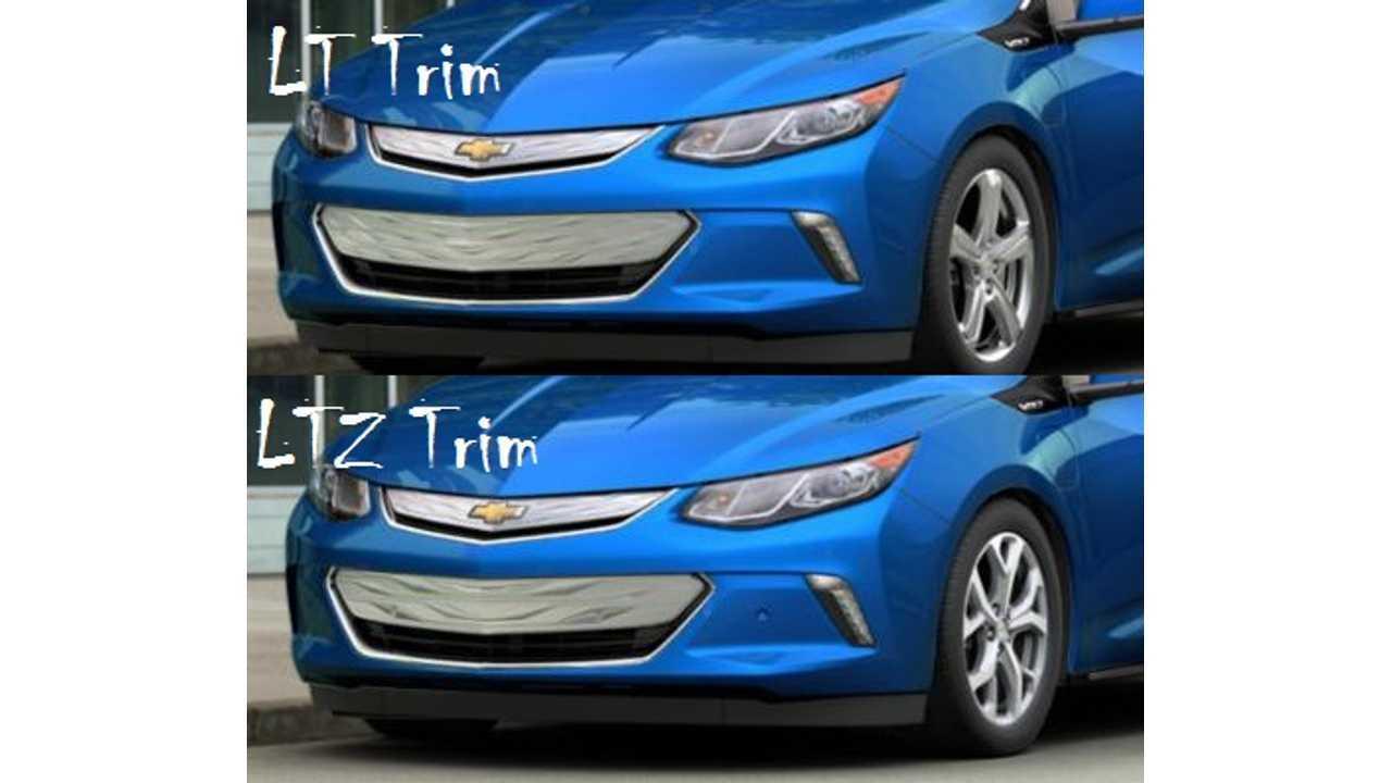 2016 Chevrolet Volt Lt Ltz Comparison