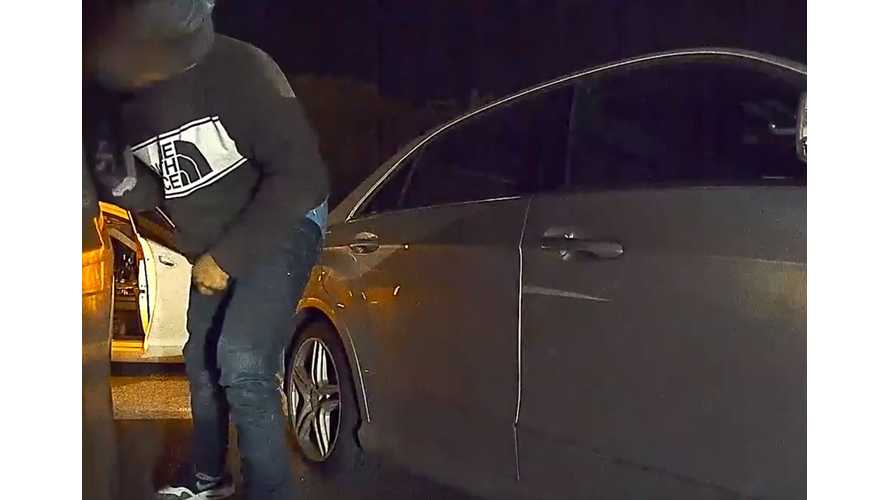 Watch Tesla Model 3 Sentry Mode Catch Thieves On Camera: Video
