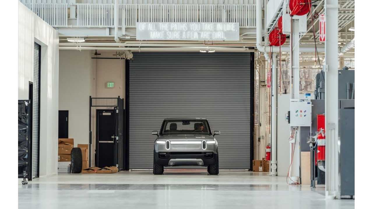 New Rivian R1T Electric Pickup Truck Image Shows Inside Of Factory
